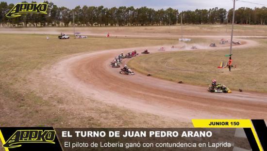 2° Fecha   Junior 150: Juan Pedro Arano está feliz