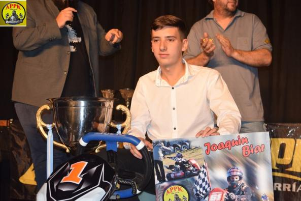 Joaquín Biar tuvo una gran noche, fue quien se llevó el karting listo para largar