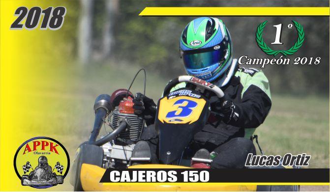 Lucas Ortiz se quedó con el título en Cajeros 150