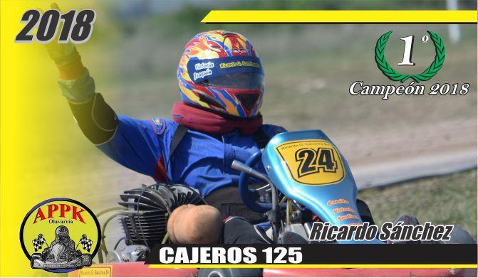Ricardo Sanchez es el campeón  en Cajeros 125