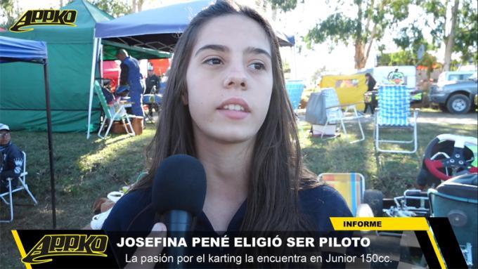 Josefina Pené es una de las pilotos de Kart del Sudeste que brindó su testimonio.