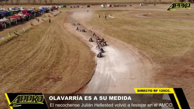 Sobrevolamos la largada la de 6° fecha de APPK Olavarría en el kartódromo del AMCO. | Foto imagen de video
