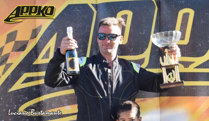 Pedro Andolfatti ganó las cinco carreras que disputó en Cajeros 125