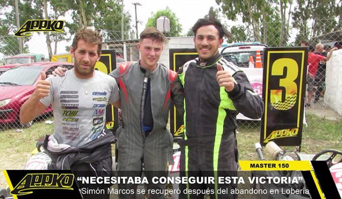 Cangelaro, Simón y Morales, el 2-1-3 de la final de Máster en Laprida.   Foto Imagen de video