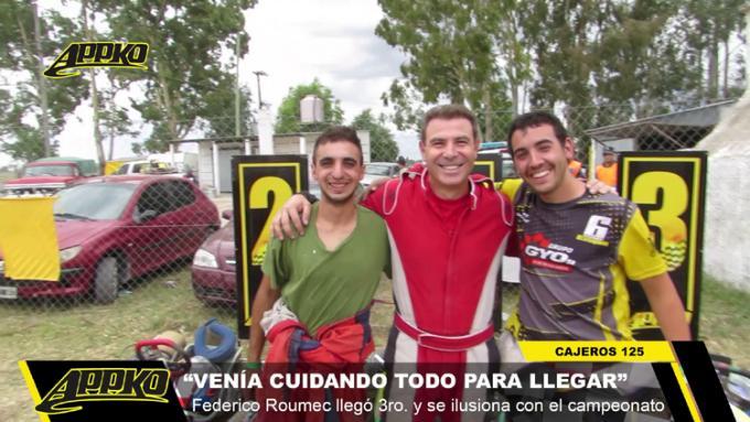 Pérez Conni, Tamburelli y Roumec, los integrantes del podio de la 2ª fecha. / Foto Imagen de video