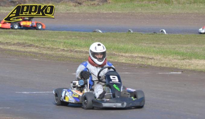 Matías Berceche ganó la final de invitados con el karting de Juan Fernández