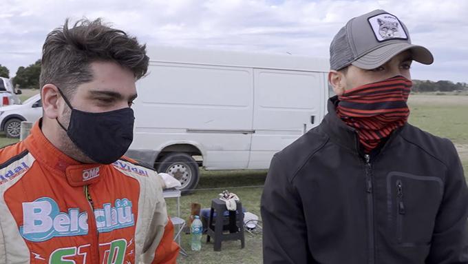 Santiago Herrera y Gabriel Melián comparten el karting los domingos de pruebas.