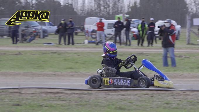 Del karting a la Promocional 1100 de APPK. Nicolas Benito es parte del semillero de APPK.